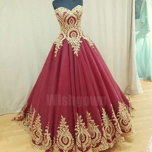 Charming Sweetheart Elegant Tulle Applique Cheap Long Prom Dresses, WG1054