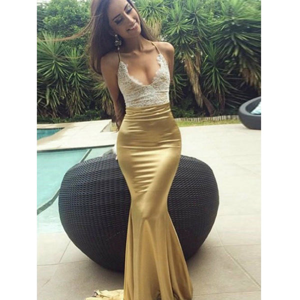Sexy Mermaid Open Back Simple Cheap Popular Long Prom Dresses, WG1047