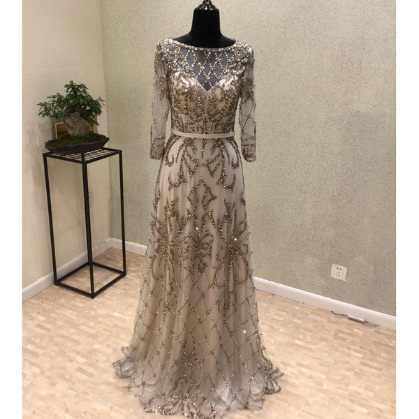 Long Sleeves Unique New Arrival Formal Cheap Long Prom Dresses, WG1009