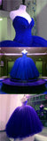 Affordable Gorgeous Sweetheart Royal Blue Ball Gown Long Evening Prom Dresses, WG1055 - Wish Gown
