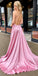 V-neck  Spaghetti Strap Charming Split Front  Long Prom Dresses PG1177