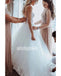 White Sweetheart Spaghetti Strap Tulle Long Wedding Dresses WDH012