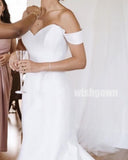 Pretty Off- the-Shoulder Mermaid Long Wedding Dresses  YH1127
