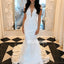 V-back Mermaid Cap Sleeve Lace  Long Wedding Dresses YH1131