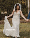 Elegant V-neck Mermaid Lace Long Wedding Dresses WDH009