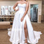 Sexy Sweetheart Split Side Simple Long Bridal Dresses WDH018