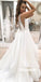 Pretty Open Back Spaghetti Strap Organza Bridal Dresses WDH030