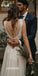 Deep V-neck Spaghetti Strap Tulle Long Wedding Dress WDH047