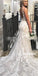 Elegant Embroidery Lace Dreaming Long Wedding Dress WDH048
