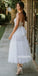 A-line Spaghetti Strap Tulle Dreaming Wedding Dress WDH051