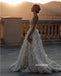 Gorgeous Applique Spaghetti Strap Dreaming Wedding Dress WDH052