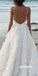 Sexy V-neck Spaghetti Strap Long Wedding Dress WDH053