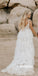 Elegant V-neck Princess Long Wedding Dress WDH055