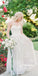 Elegant White Sweetheart Applique Long Wedding Dress WDH059