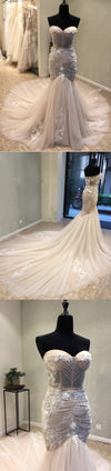 Sweetheat Sexy Mermaid Unique Long Wedding Dress for Brides, WG1209
