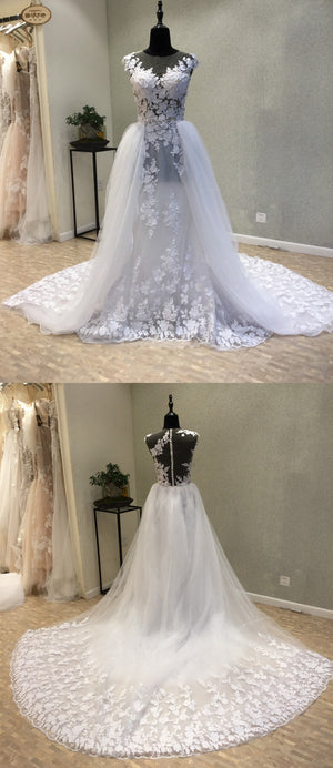 Lace Popular Long Cheap Online Bridal Wedding Dress, WG1211