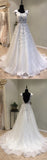 Open Back Formal A Line Cheap Bridal Long Wedding Dresses, WG1238