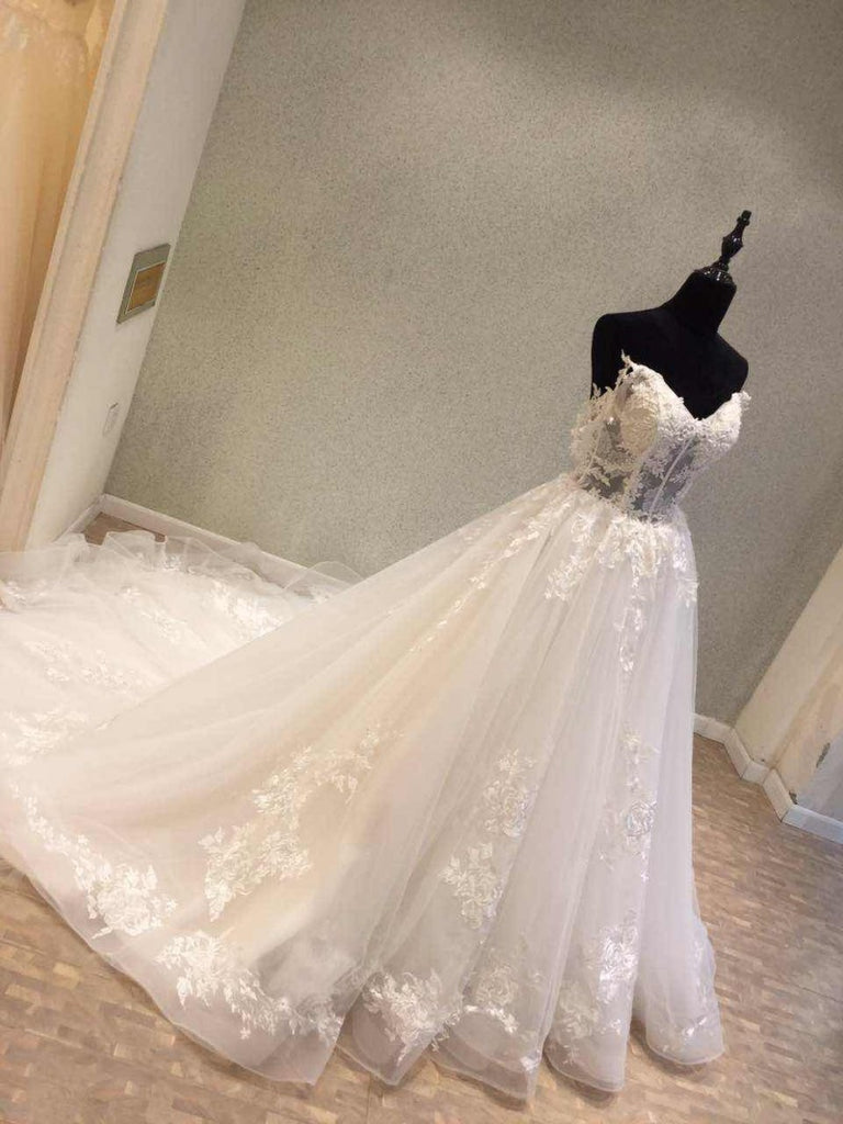 Online Popular Elegant Long Cheap Bridal Wedding Dress, WG684