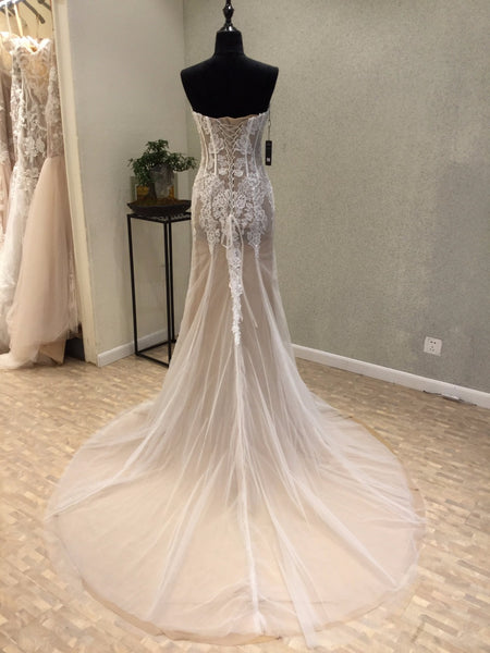 Sweetheart Mermaid Lace Up Back Sexy Cheap Long Wedding Dresses, WG1225