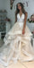 A-line Charming Lace Tulle Long Wedding Dresses YH1119