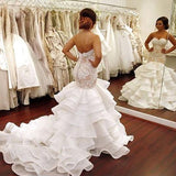Gorgeous Sweetheart Mermaid Charming Affordable Long Wedding Dresses, WD0146 - Wish Gown