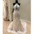 Affordable Unique Haler Mermaid Open Back Long Cheap Wedding Dress, WG686