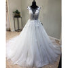 On Sale Tulle Applique Formal Cheap Bridal Long Wedding Dress, WG1203