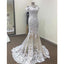 Off the Shoulder Lace Mermaid Elegant Affordable Long Wedding Dress, WG265