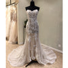 Mermaid Sweetheart Lace Long Cheap Bridal Wedding Dress with Lace Up Back, WG691