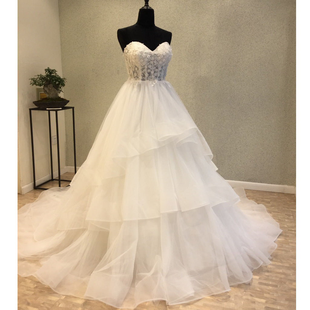 Sweeheart Elegant A Line Pretty Long Wedding Dresses, WG1231