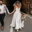 Spaghetti Strap Lace A Line Long Bridal Wedding Dresses, STZ317