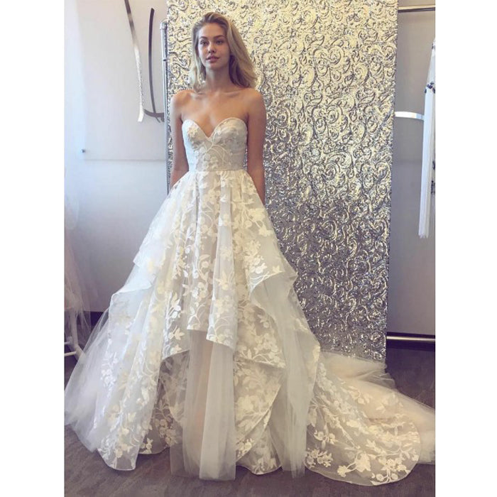 Charming Sweetheart Unique Bridal Inexpensive Long Wedding