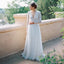 Sexy V Neck Long Sleeves Lace Top Tulle Formal Long Wedding Dresses, WG670