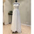 Simple High Neck Cheap Bridal Long Beach Wedding Dresses, WG1241