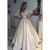 Half Sleeves Lace Top Satin Eleagnt Bridal Long Wedding Dresses, WG1244