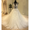 Beautiful Unique Sexy Tulle Applique Gorgeous Bridal Long Wedding Dress, WG1202