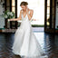 A-line Spaghetti Strap Long Wedding Dresses YH1124