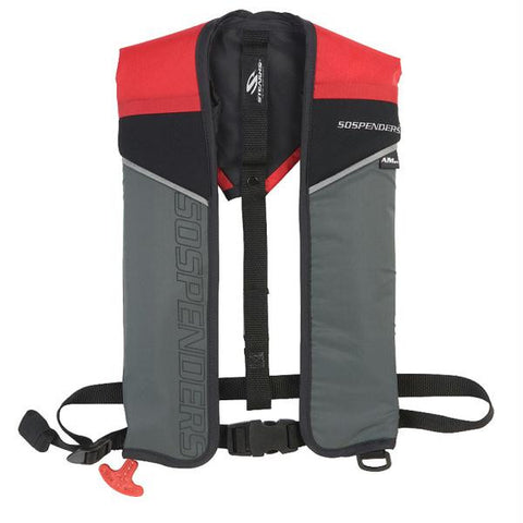 SOSpenders 1431 24G A-M Easy Repack Inflatable Vest - Red