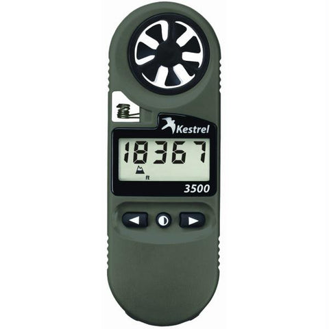 Kestrel 3500 Pocket Weather Meter - Olive Drab Night Vision
