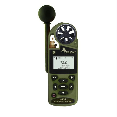 Kestrel 4400BNV Heat Stress Tracker w-Night Vision & Bluetooth - Olive Drab