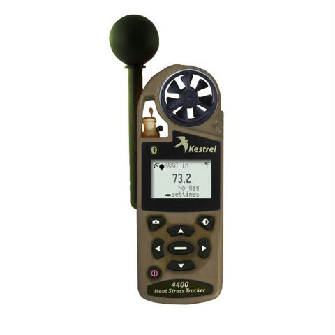 Kestrel 4400BNV Heat Stress Tracker w-Night Vision & Bluetooth - Desert Tan