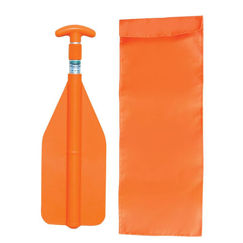 "Kwik Tek Telescoping Paddle - 20""- 45"" w-Nylon Bag - Orange"
