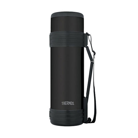 Thermos Elite Beverage Bottle - Black Stainless - 1.8L