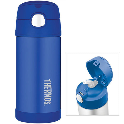 Thermos FUNtainer™ Stainless Steel, Insulated Straw Bottle - Blue - 12 oz.