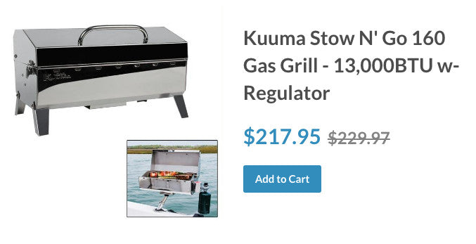 Kuuma Stow N' Go 160 Gas Grill - 13,000BTU w-Regulator