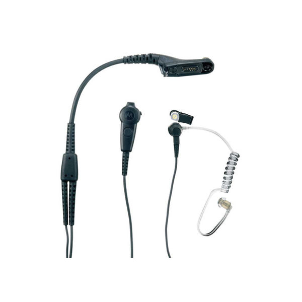 Motorola DP4000 - IMPRES 2 Wire Surviellence Kit w/ Translucent Tube (Black)