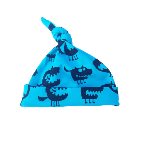 Fred & Noah Blue Monster Knotted Hat