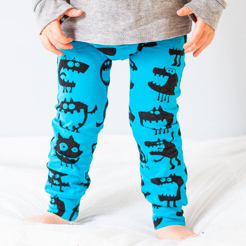 Fred & Noah Blue Monster Leggings