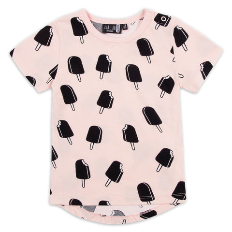 CarlijnQ T-shirt Ice Cream Pink