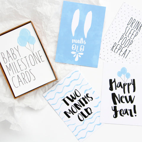 Baby Milestone Card Set (Boy)